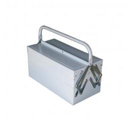 Caja de herramientas desple. con 6 compar