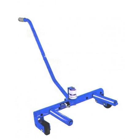 Carro de ayuda para montaje de ruedas de camión
