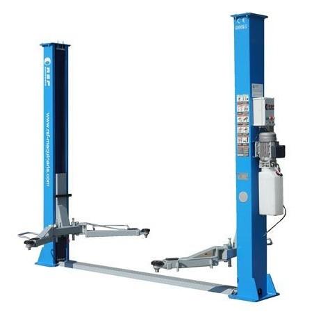 Elevador 2 columnas sincronizado mediante cables de acero  hasta 4.000 Kg